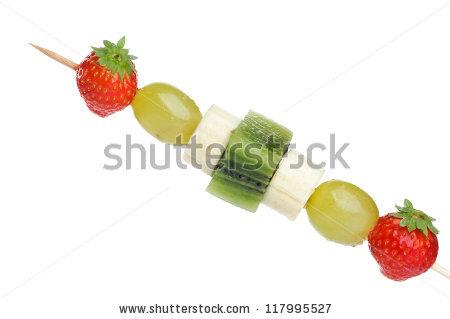 Fruit Skewers Stock Photos, Royalty.