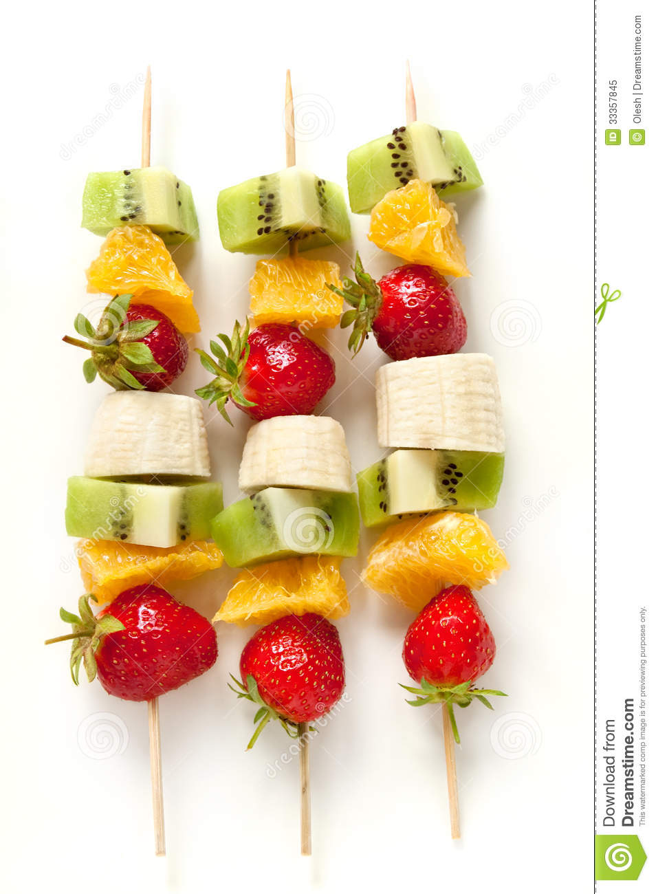 Fresh Fruit On The Skewers Royalty Free Stock Photo.