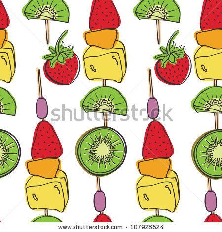 Fruit Skewer Stock Photos, Royalty.