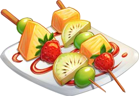 Image result for fruit kebabs clipart