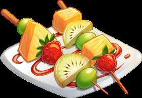 Fruit Kebabs Clipart.