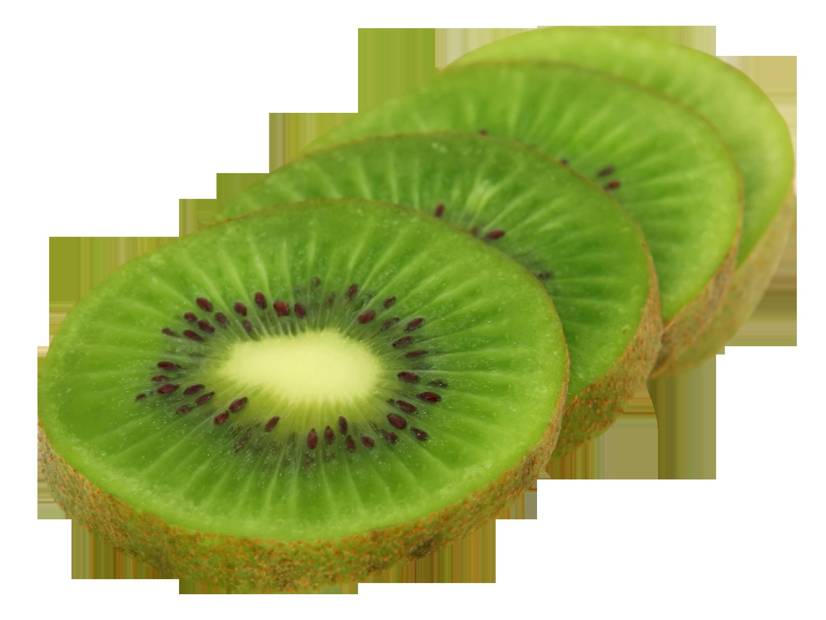 Kiwi Fruit Slice PNG Image.