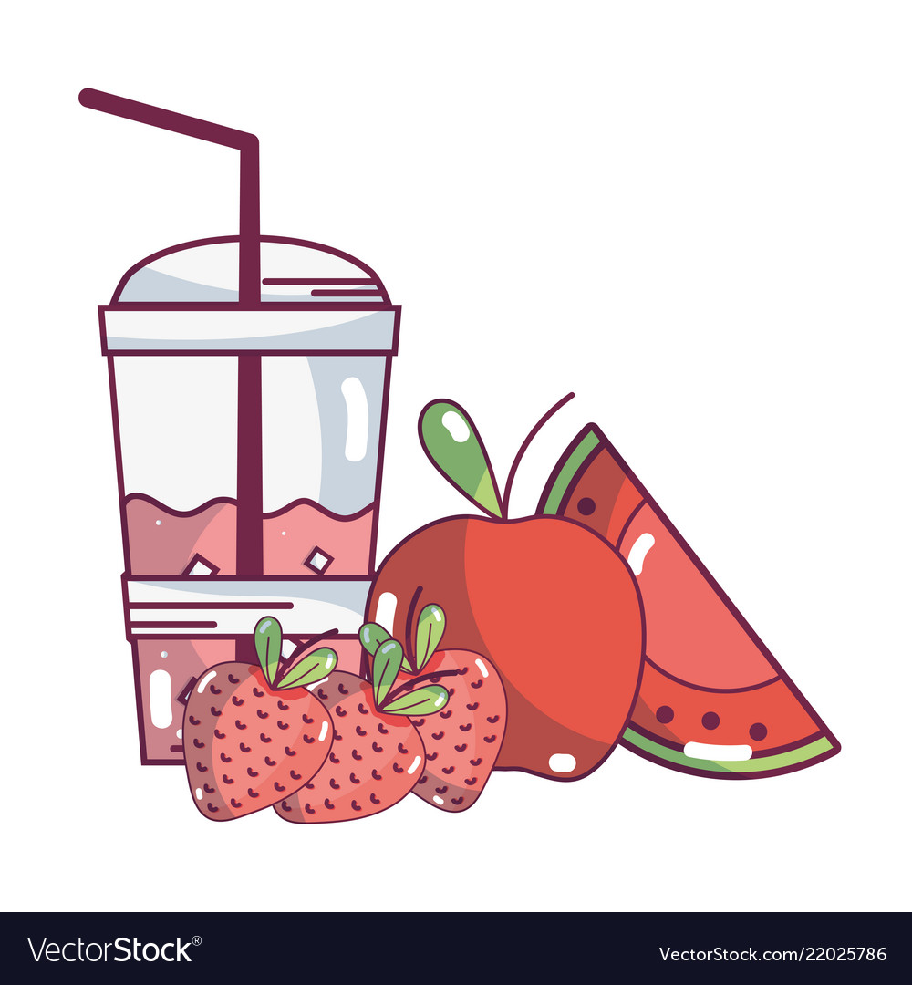 Fruit smoothie cartoon.