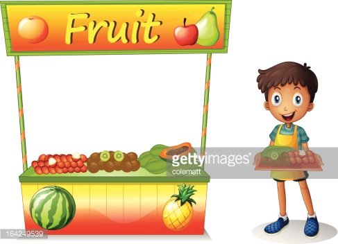 Fruit stall Clipart Image.