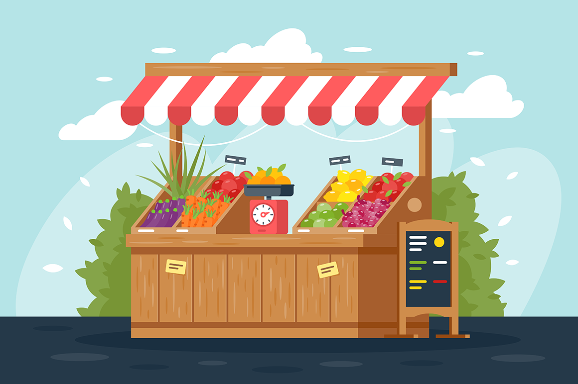 Organic products illustration.