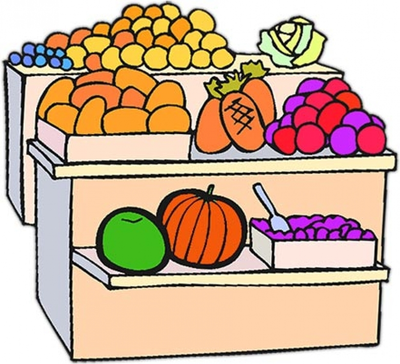 Fruit stand clipart.