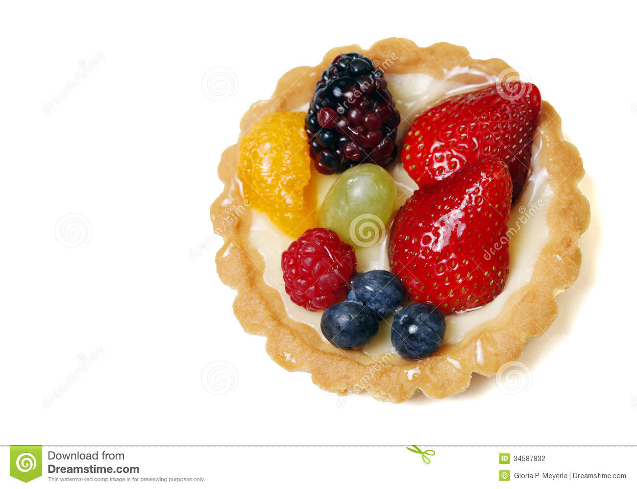 Fruit Tart Stock Photography.