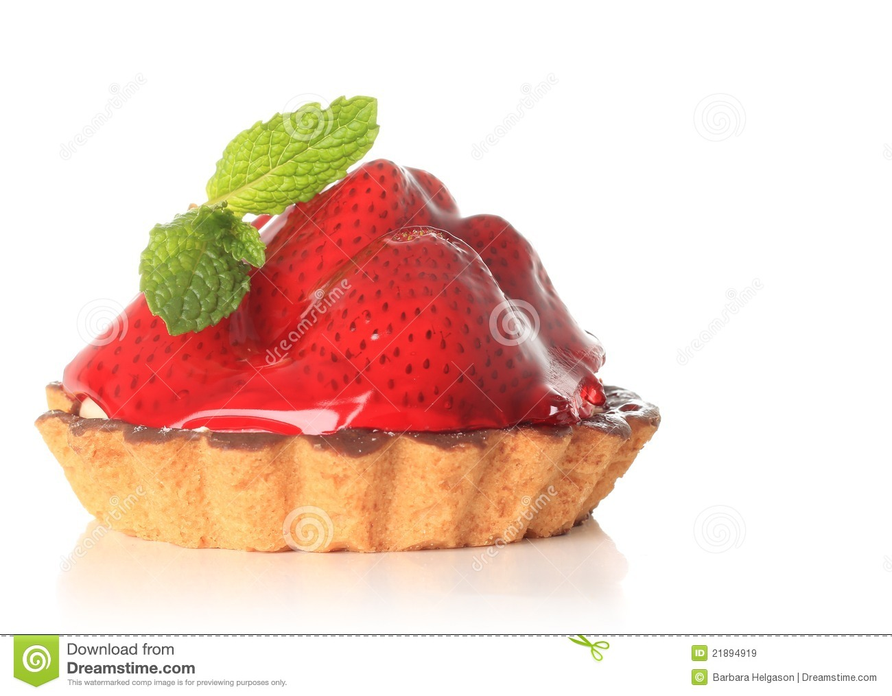 Strawberry Fruit Tart Royalty Free Stock Images.