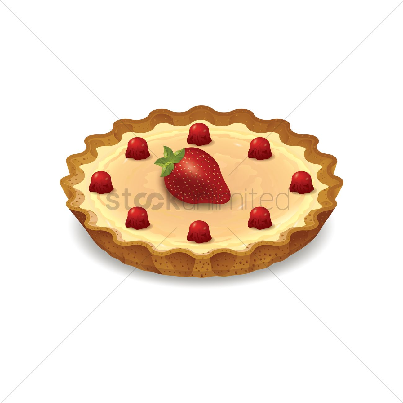 Fruit tart Vector Image.