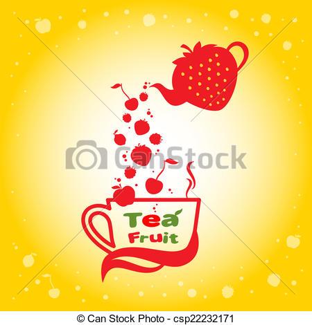 Vectors Illustration of Tea fruit.