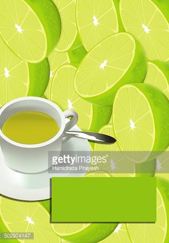 Lemon Fruit Tea stock vectors.