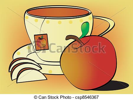 Vectors Illustration of Fruit tea.