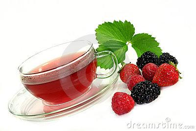 Forest Fruit Tea Stock Image.