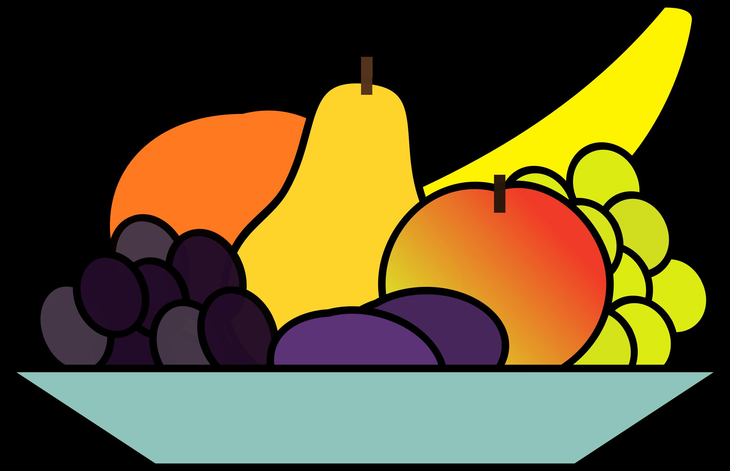 Fruit Tray Clipart.