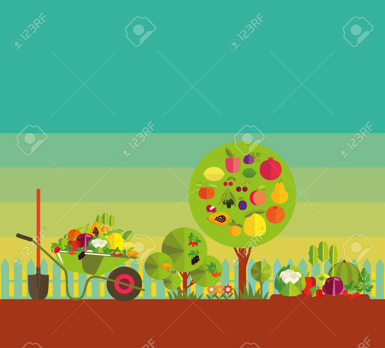 Gardening. Organic Cultivation Of Fruit And Vegetables. Fruit.