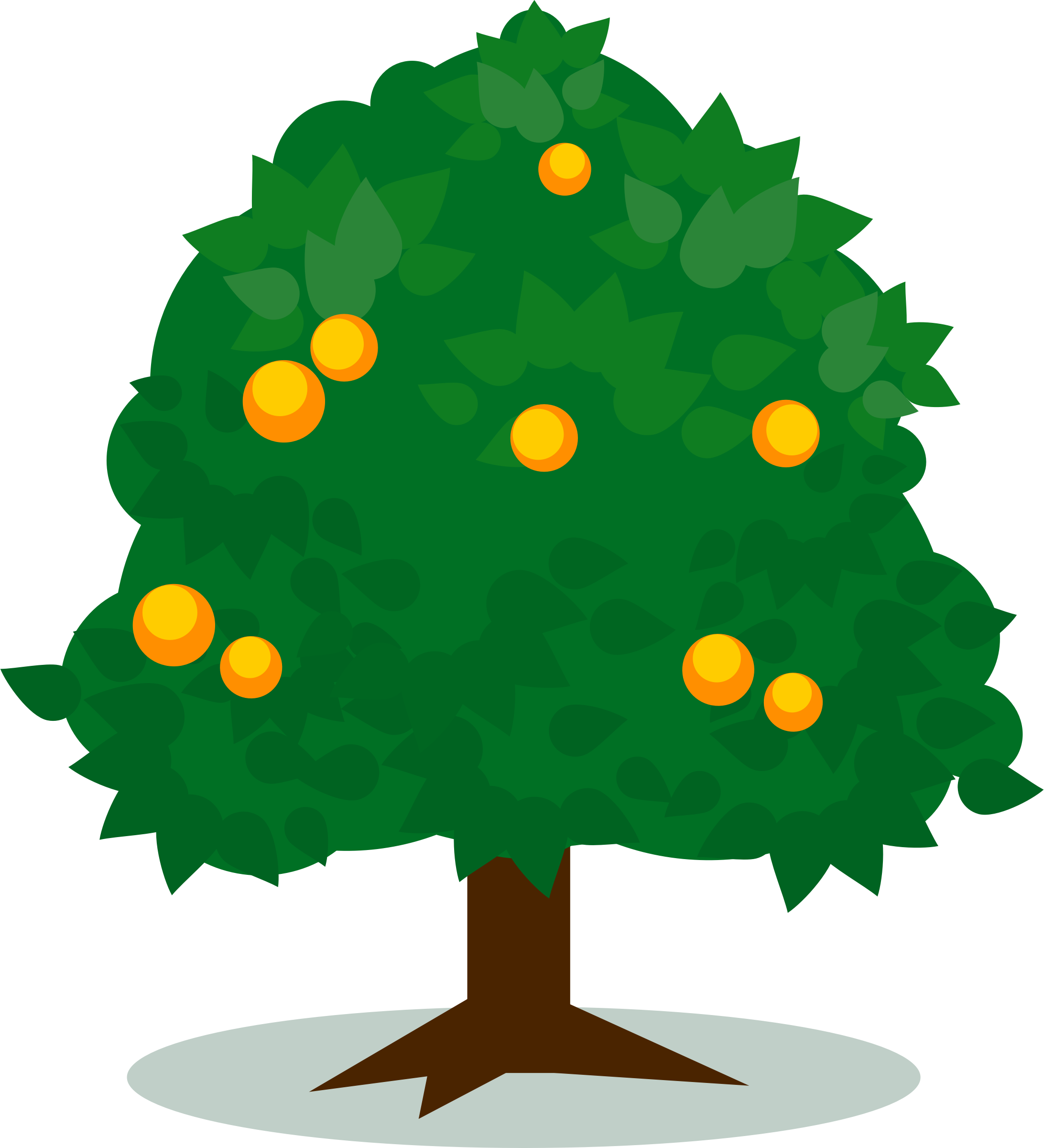 Tree with fruits vector art.