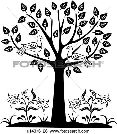 Clip Art of , amish, bird, dutch, folk art, holland, netherlands.