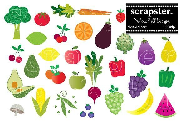 Fruits and Vegetables Clipart #fruit #vegetable.