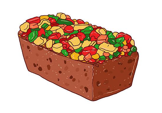 Fruit Cake Clipart.