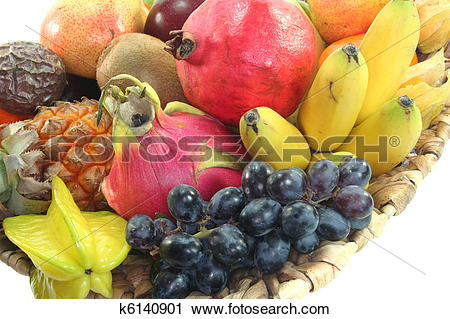 Stock Photography of Fruit Mix in the basket k6140901.