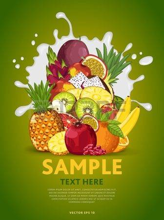 4,005 Fruit Mix Stock Vector Illustration And Royalty Free Fruit.