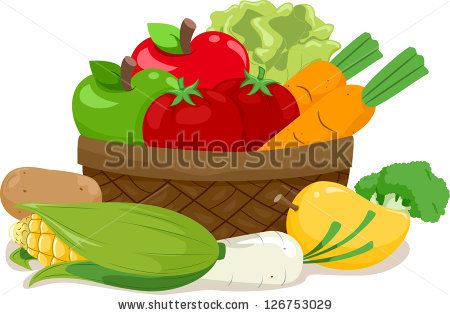 Vegetable Basket Stock Images, Royalty.
