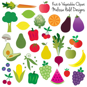 Fruit and Vegetable Clipart.