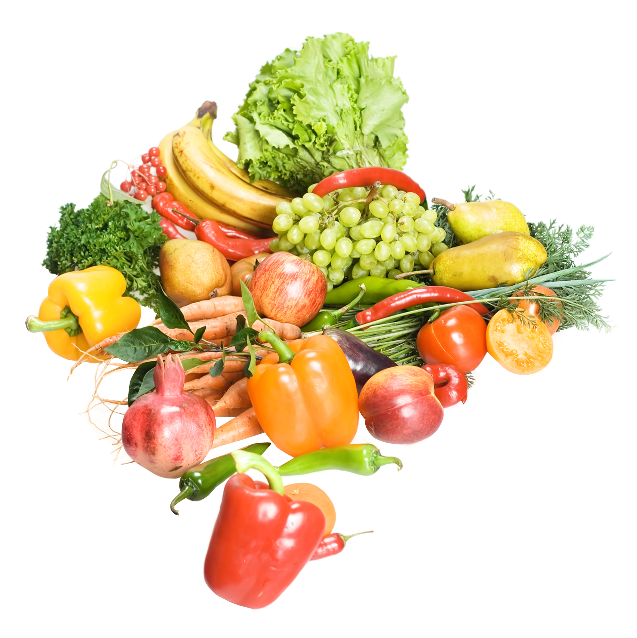 Fruits And Vegetables PNG Image.