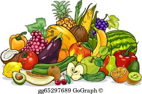 Fruit And Vegetables Clip Art.