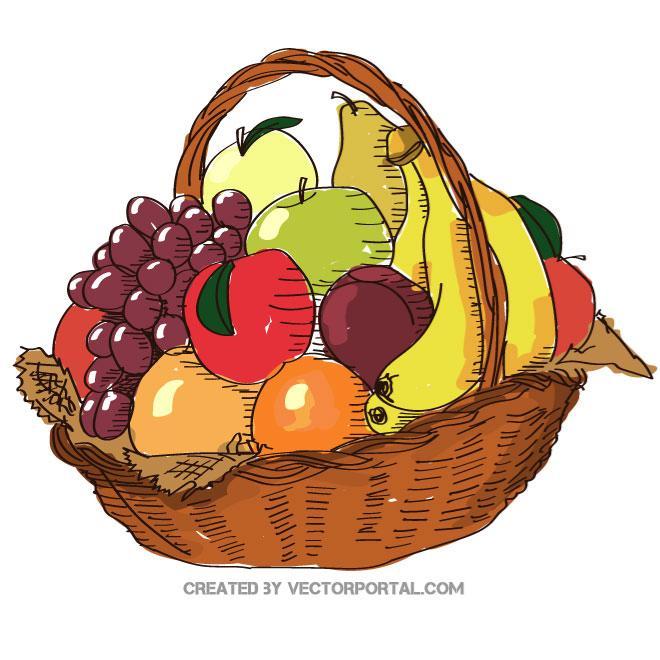 Fruits basket clipart 4 » Clipart Station.