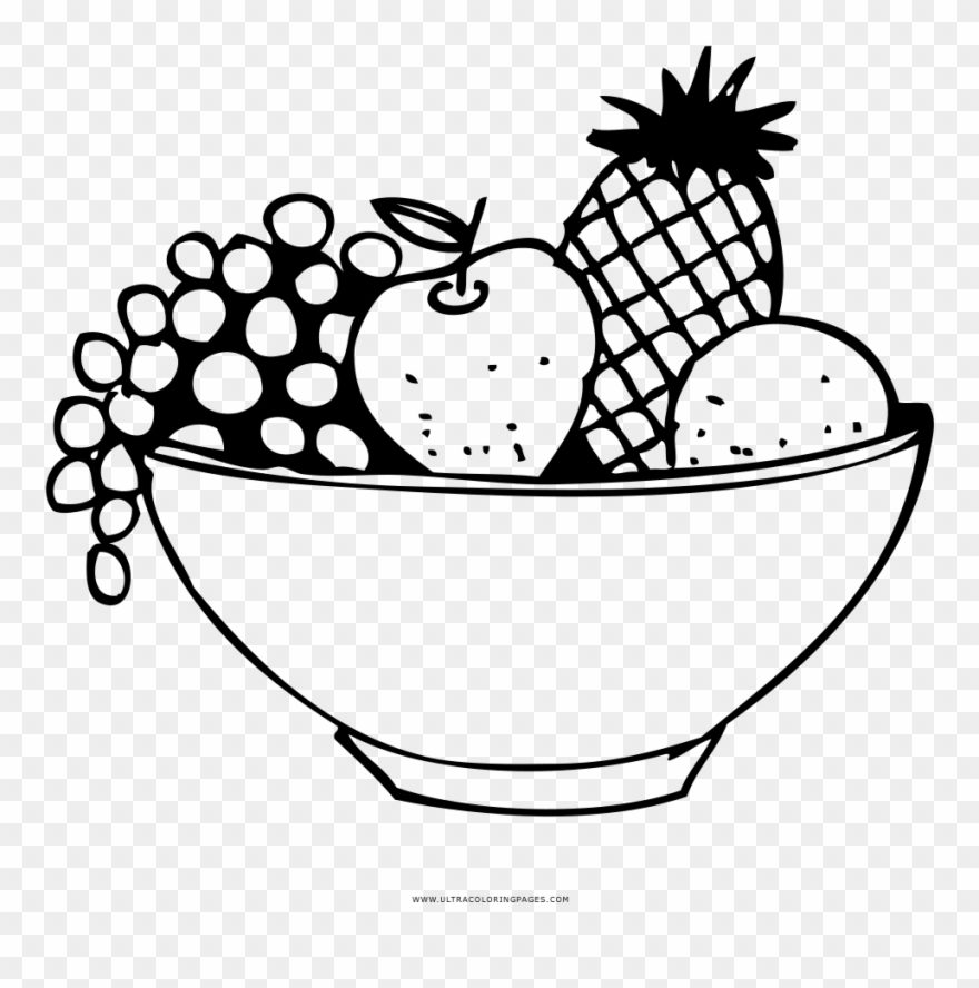 Fruit Basket Coloring Page Clipart (#3120289).