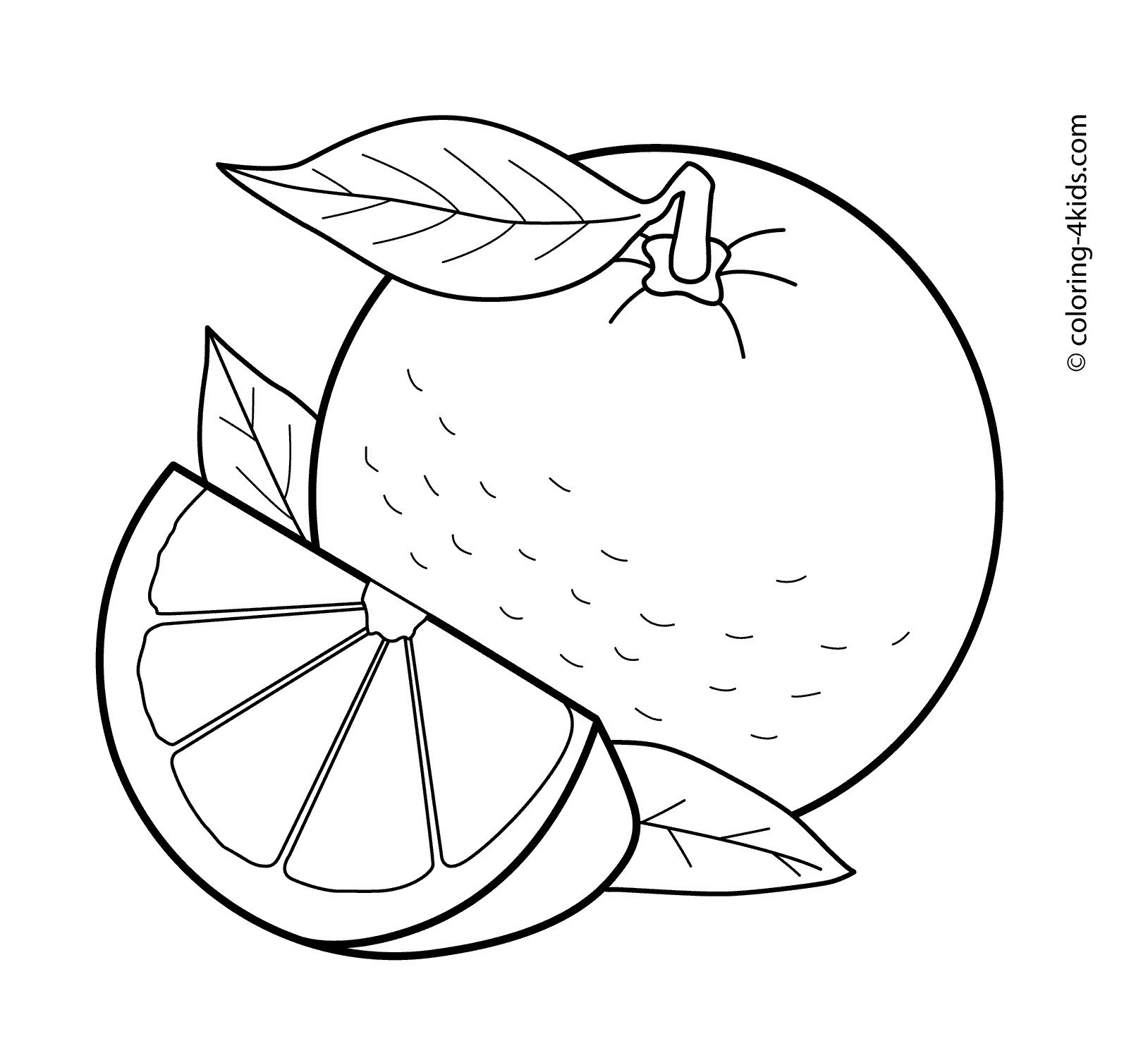 Orange fruit clipart black and white 1 » Clipart Station.