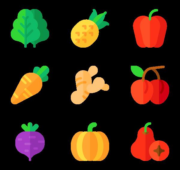 3 orange fruit icon packs.