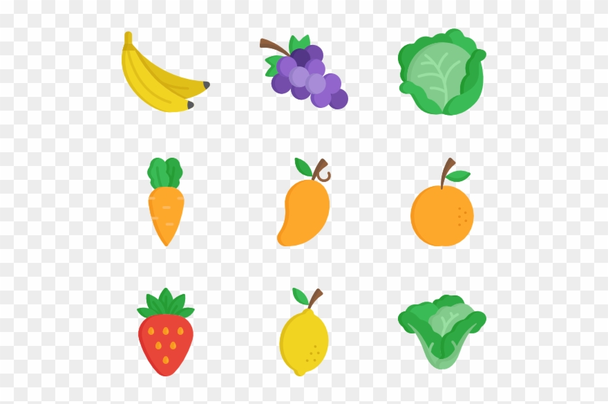 Fruits And Vegetables At Getdrawings Com Free.