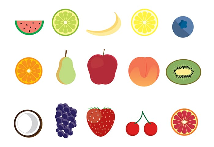 15 Free Fruit Icons (Ai + PNG + SVG).