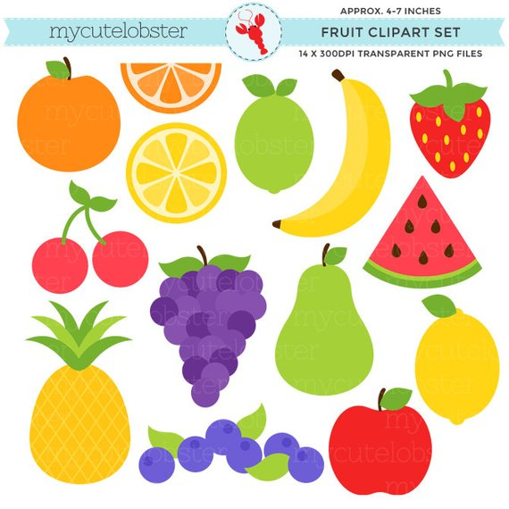 Fruit Clipart Set.