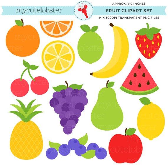 Fruit Clipart Set.