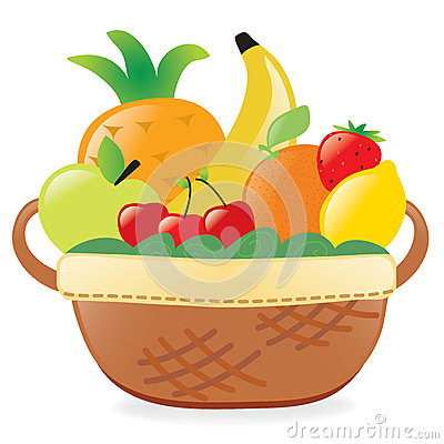 Fruits in a basket clipart » Clipart Station.