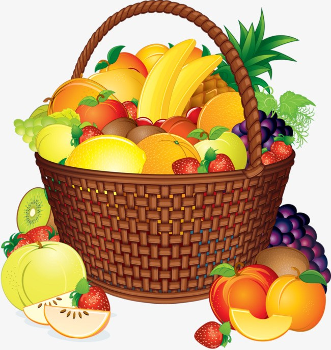Fruits in the basket clipart 6 » Clipart Portal.