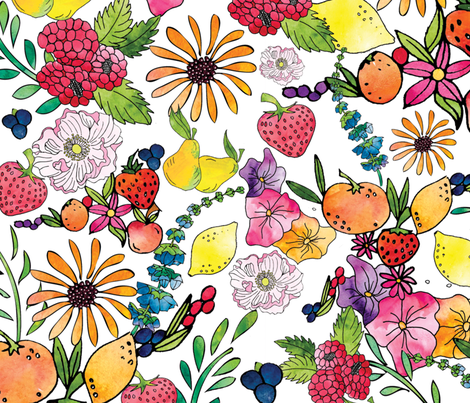 Fruits in the Forest fabric.