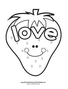 Fruit Of The Spirit Love Coloring Pages.
