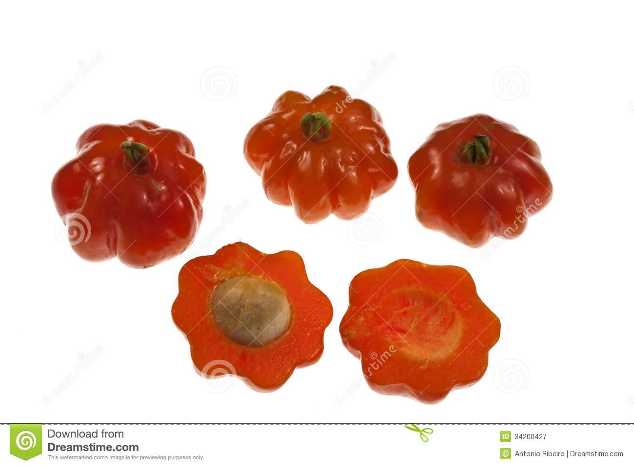 Pitanga Fruit Royalty Free Stock Photography.