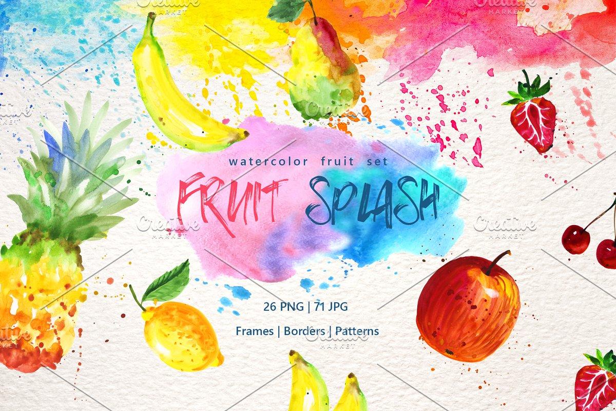 Watercolor fruits PNG set ~ Illustrations ~ Creative Market.