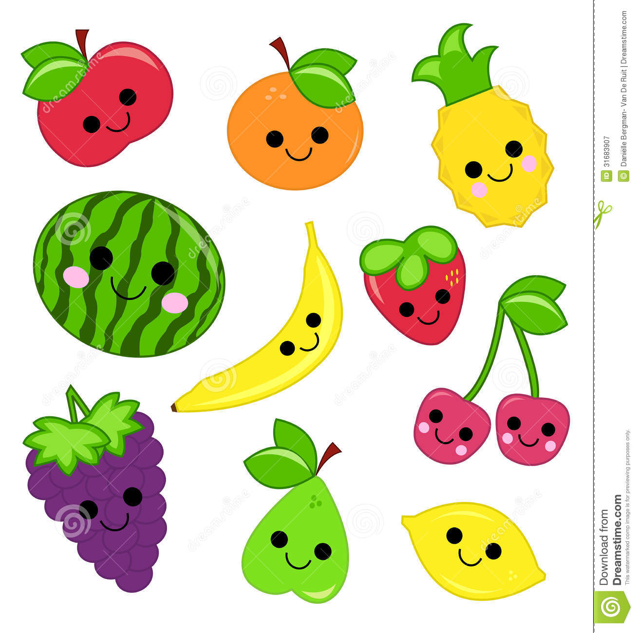 Cute Fruit Royalty Free Stock Photography.