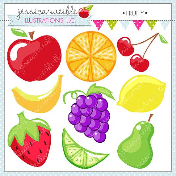 Fruity Cute Digital Clipart.