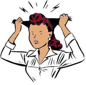 Clipart Frustrated Woman.