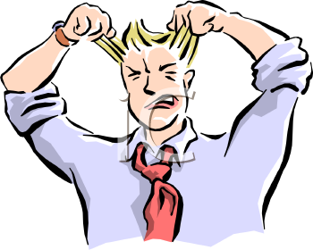 Man Frustrated Clipart.