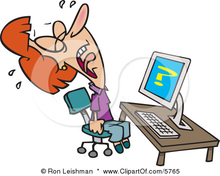 Frustrated Clipart.