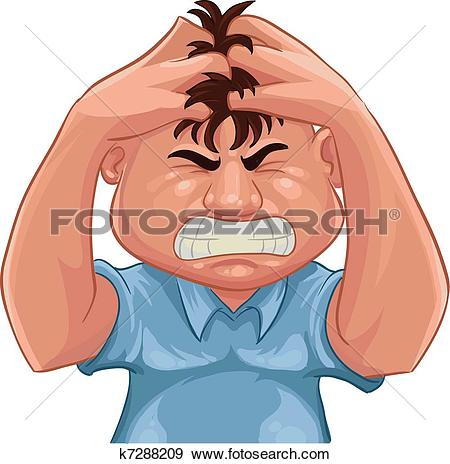 Clip Art of angry k7288209.