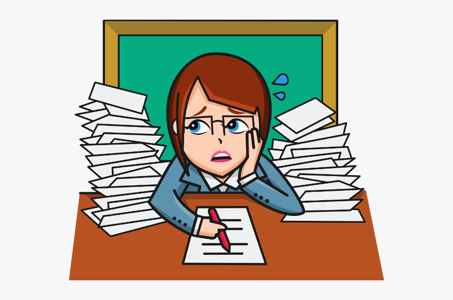 Frustrated Student Clipart.